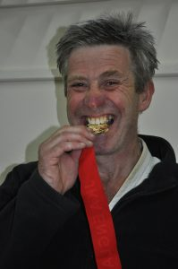 Andy winning gold